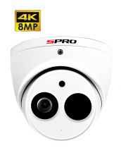 SPRO DHD80/28RW/50M-M - 8MP DOME, 2.8MM, SMART IR, STAR LIGHT, MICROPHONE, 50M IR, WHITE