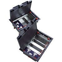 Excel 3-Compartment Floor Box (including 1 Double Switched Power Socket)