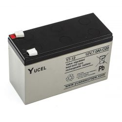 Yuasa Y7-12 Sealed Lead Acid Battery 12v 7ah Burglar Alarm Back Up