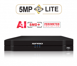 SPRO DHDVR06-B5 - 4CH 5MP-Lite DVR, NO HDD, Tripwire, Intrusion, Smart Motion Detection, Face detection, Audio over coax, AI