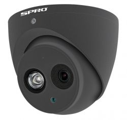 SPRO DHD40/28RG-T-M - 4MP TURRET DOME, 2.8MM, MICROPHONE BUILT IN, WDR, IP67, 50M IR, CVI, GREY