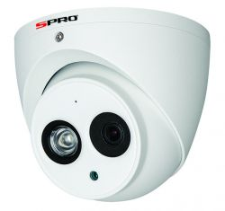 SPRO DHD40/28RW-T-M - 4MP TURRET DOME, 2.8MM, MICROPHONE BUILT IN, WDR, IP67, 50M IR, CVI, WHITE