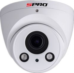 SPRO DHIPD40/2713RW-A - 4MP, 2.7-13MM MOTORISED LENS, DOME, SMART IR, WDR, POE, 50M IR