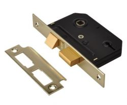 "Union Y-ES-SL-PB-2.5 - Essentials 3 Lever Sash Lock Brass 2.5"""