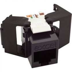 Excel Category 6 UTP Low Profile Toolless Jack - Black 100-208-BK