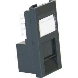 Excel Category 5e (UTP) Office Unscreened Low Profile Euromod RJ45 Module - Grey