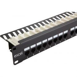 Excel Category 5e (UTP) Right Angle Unscreened Patch Panel 24 Port - 1U