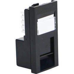 Excel Category 5e (UTP) Unscreened Low Profile Euromod RJ45 Module - Black