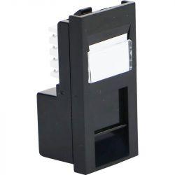 Excel Category 5e (UTP) Unscreened Low Profile Euromod RJ45 Module - Black