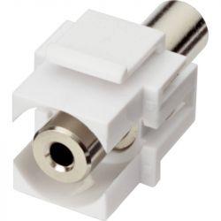 Excel 3.5mm Audio input Keystone Adaptor white