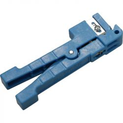 Excel Peg Style Jacket Stripper, 3.2-5.5mm cable diameter (blue handle)