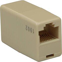 Excel RJ45-RJ45 In-line Connector - Beige