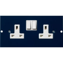Excel Double Switched Power Socket For 350-601 3-Compartment Floor Box
