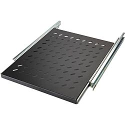 Excel Environ Sliding Shelves - 350mm depth (Mounting Depth: 375mm-660mm) - Black