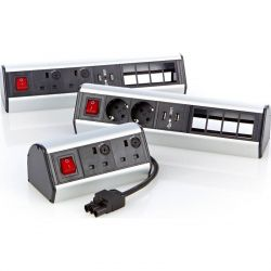 Excel Desktop Power Distribution Unit - 4x UK sockets, 4x 6C aperture