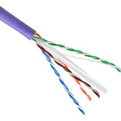 Excel Category 6 Cable U/UTP 23AWG B2ca LS0H 305m Box - Violet