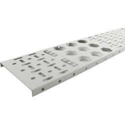 Excel Environ Cable Tray 32U 300mm wide (2 Qty) - Grey White
