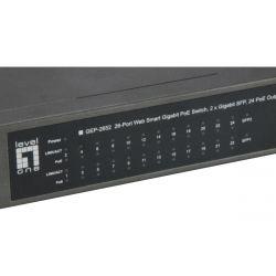 26-Port Web Smart Gigabit PoE Switch, 24 PoE Outputs, 2 x SFP, 370W, 802.3at/af PoE