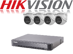 HikVision Turbo HD up to 5MP 8Ch Audio Kit with 4 x 5 MP 40m IR Hikvision Audio Dome