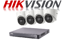 HikVision Turbo HD up to 5MP 8Ch Audio Kit with 4 x 5 MP 30m IR Hikvision Audio Dome