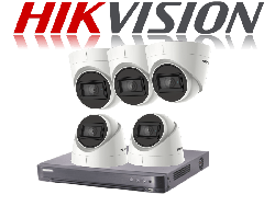 HikVision Turbo HD up to 5MP 8Ch Audio Kit with 5 x 5 MP 30m IR Hikvision Audio Dome