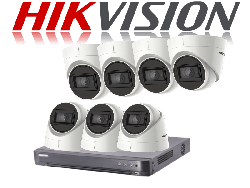 HikVision Turbo HD up to 5MP 8Ch Audio Kit with 7 x 5 MP 30m IR Hikvision Audio Dome
