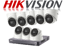 HikVision Turbo HD up to 5MP 8Ch Audio Kit with 8 x 5 MP 30m IR Hikvision Audio Dome