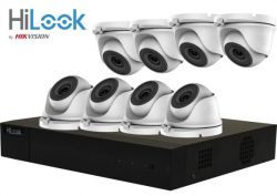 HiLook by Hikvision 4 Mega Pixel 8Ch Kit with 8 x 20m IR Mini Dome Cameras