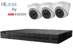 HiLook by Hikvision upto 8MP Full HD 4Ch IP Kit with 3 x 4MP IP Turret Cameras