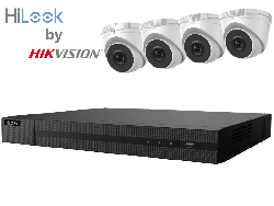 HiLook by Hikvision upto 8MP Full HD 4Ch IP Kit with 4 x 4MP IP Turret Cameras