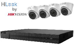 HiLook by Hikvision upto 8MP Full HD 8Ch IP Kit with 4 x 4MP IP Turret Cameras