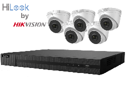 HiLook by Hikvision upto 8MP Full HD 8Ch IP Kit with 5 x 4MP IP Turret Cameras