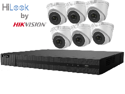 HiLook by Hikvision upto 8MP Full HD 8Ch IP Kit with 6 x 4MP IP Turret Cameras
