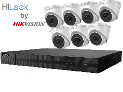HiLook by Hikvision upto 8MP Full HD 8Ch IP Kit with 7 x 4MP IP Turret Cameras