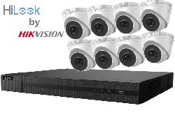 HiLook by Hikvision upto 8MP Full HD 8Ch IP Kit with 8 x 4MP IP Turret Cameras
