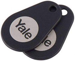 Yale P-YD-01-CON-RFIDT-BL - 2 Pack Black Key Tags