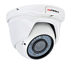 SPRO SPD20/2812RW-4-A - 1080P HD 4 IN 1, MOTORISED LENS, EYEBALL DOME, 2.8-12MM, 30M IR - WHITE